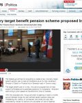 Voluntary target benefit pension scheme proposed by Ottawa