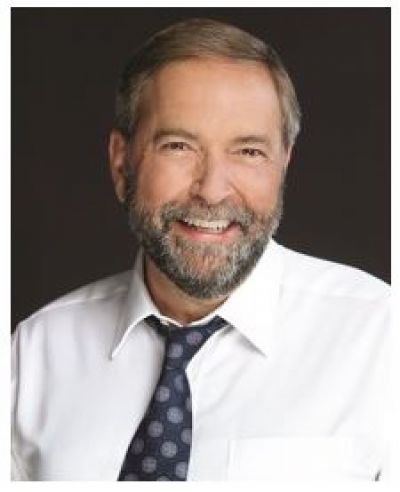 The Honourable Tom Mulcair: A Stronger Middle Class. A Stronger Canada.
