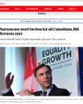 Pharmacare won't be free for all Canadians, Bill Morneau says